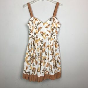 Vintage feather handmade baby doll dress
